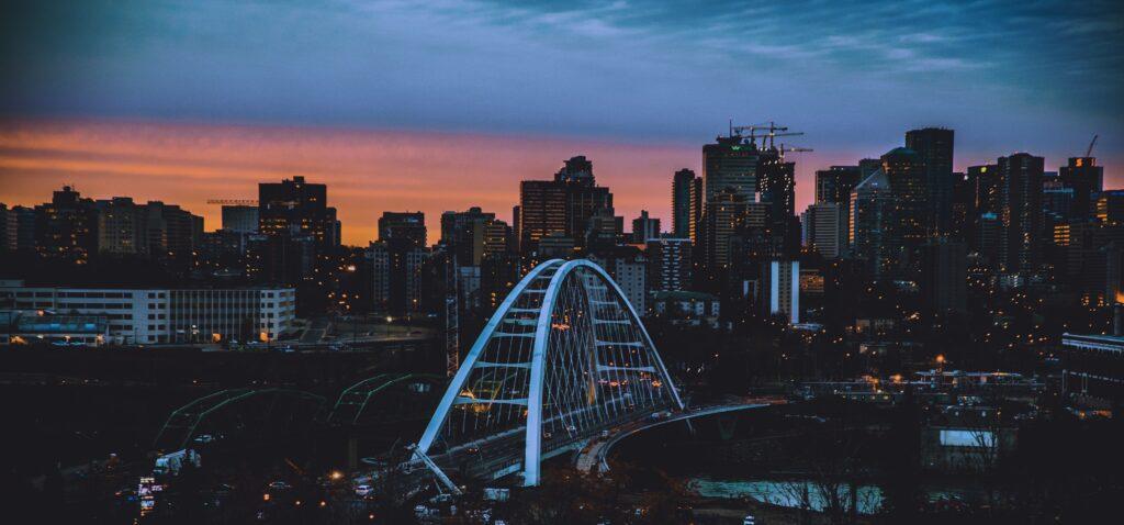 Edmonton Alberta Canada Skyline